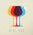 wine bar concept glass drink icon color design