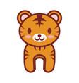 cartoon tiger animal image vector image