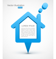 Blue house pointer vector image