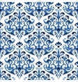 Seamless blue pattern background with vector image