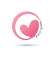 love circle logo design template vector image