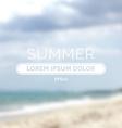 Summer time retro defocused old background vector image