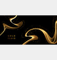 abstract shiny color gold wave luxury background