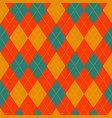 argyle retro bright seamless pattern vector image