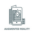 augmented realitycity in smartphone line icon vector image