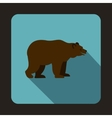 Bear icon flat style vector image