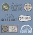bicycle sign for business vector image vector image