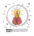 brain creative poster icon ilustration vector image vector image