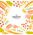 brushes-yellow-creative vector image