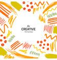 brushes-yellow-creative vector image