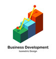 business development isometric vector image vector image