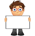 Business Man Blank Sign 13 vector image vector image