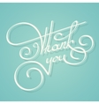 Calligraphy thank you text vector image
