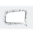 cartoon speech bubbles on transparent background vector image vector image