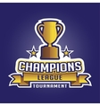 Champion sports league logo emblem badge graphic vector image vector image