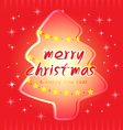 christmas and trees card vector image vector image