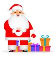 christmas greeting card funny santa claus vector image