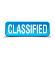 classified blue 3d realistic square isolated vector image vector image