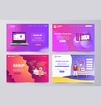 collection landing page modern theme tem vector image vector image