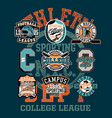 college athletic department sporting team badges vector image vector image