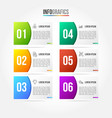 colorful infographic template with 3d paper label vector image vector image