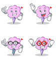 cotton candy character set with proud okay vector image vector image