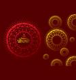 creative greeting design of diwali festival vector image