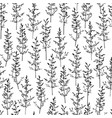 cute seamless pattern with herbal silhouettes vector image vector image