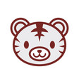 cute tiger face image vector image
