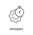 efficiency icon outline style thin line creative vector image vector image