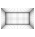 empty futuristic room with shaded wall and grid vector image vector image