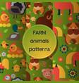 farm animals seamless pattern domestic vector image vector image