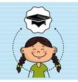 girl cartoon cap icon vector image vector image