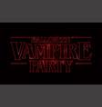 halloween vampire party text design vector image