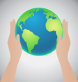 Hands Holding The Earth Save The Earth Concept vector image vector image