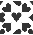 Heart icon pattern on white background vector image