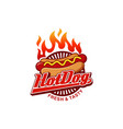 hot dogs logo design symbol icon vector image