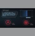 hud ui gui futuristic user interface screen vector image