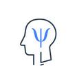 human head profile and psychology symbol vector image