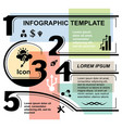 infographic template elements vector image vector image
