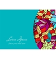 Invitation and greeting card template with bright vector image vector image