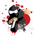 Jumping Ninja vector image vector image