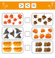 learning mathematics numbers - choose more less vector image vector image