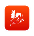 love cupid icon digital red vector image