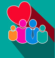 loving family team group stylized icon vector image