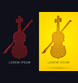 luxury violin vector image vector image
