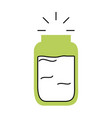 mason jar isolated icon vector image vector image