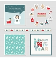 Merry Christmas and Happy New Year 2017 set vector image vector image