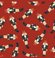 nutcracker seamless christmas pattern vector image