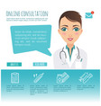 online healthcare diagnosis and medical consultant vector image